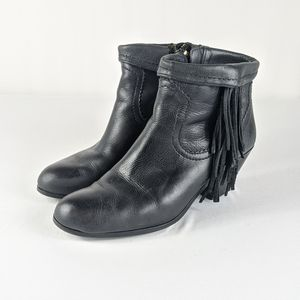Sam Edelman Louie Leather Fringe Boho Booties